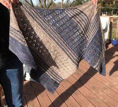 Blooming Texture Shawl by Tina Tse, knitted by shelbysknitknacks | malabrigo Mechita in Sand Bank and Unicornio