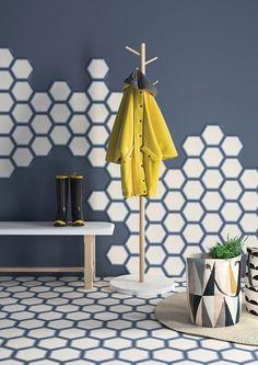 Hexagon Fliesen Lio aus Zement: Individuell, farbenfroh, hochwertig
