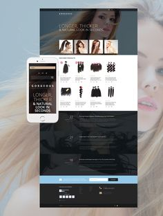 Long thick hair is a dream of many people. Modern technologies let you turn this dream to reality even without plastic surgery. This <b>Hair Extensions Salon WooCommerce Template</b> was developed ...