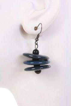 Dark Teal Two Tone Three Coin Layered Earrings Dark Teal, Wholesale Jewelry, Costume Jewelry, Drop Earrings, Stuff To Buy, Dark Blue, Drop Earring, Fashion Jewelry