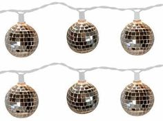 10 Lt Disco Ball String Light - Set of 2 Indoor Outdoor use mirror ball string lights. Use anyplace you need to glam it up with light and sparkle.