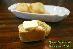 Spoon Herb Rolls Food Done Light #rolls #herbs #spoon