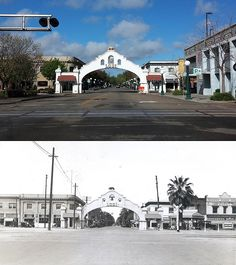 Lodi Mission Arch - Lodi, CA - Photos Then and Now on Waymarking.com