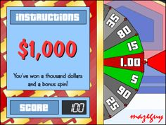 play price is right spin the wheel game