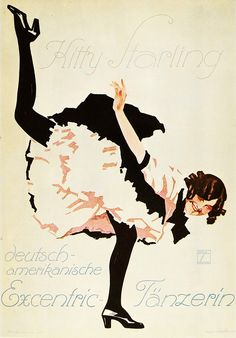 Kitty Starling by Hohlwein, Ludwig | Shop original vintage posters online: www.internationalposter.com