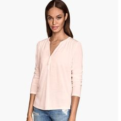 NWOT Pink H&M shirt NWOT Pink H&M jersey Shirt never worn. Size small very soft and thin material. H&M Tops