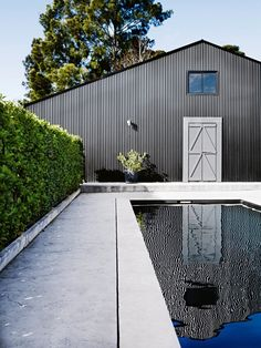 Swimming pool goals: inspiration for at-home summer relaxation: The pool at Jilly Hampshire's shed that became a home on the south coast of New South Wales.