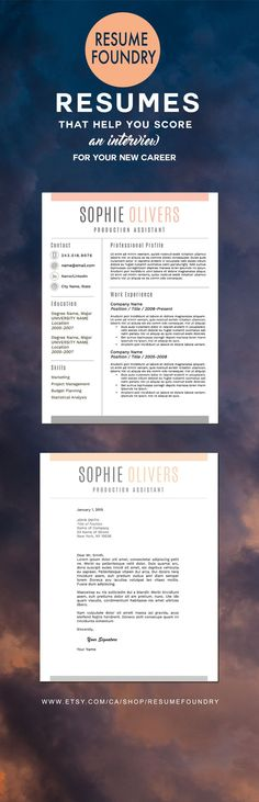 Resume Template / Cv Template + Cover Letter For Ms Word | One