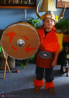 Homemade Viking costume for boys