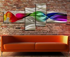 Modern Abstract Sculpture Metal Wall Artwork Decor by Hlebitza