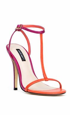 Fuschia & Coral Colorblock Sandals <3 I'm Loving these two colors together!
