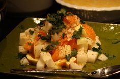 Hi-ho The Crunchy-O Cantaloupe Salad - Our superlative cantaloupe salad with lime, mint and ginger is a celebration of healthy ingredients. Cantaloupe Calories, Cantaloupe Salad, Cantaloupe Recipes, Cantaloupe Benefits, Dessert Recipes, Desserts, Healthy Nutrition, Feta, Celebration