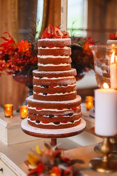 2015 Wedding Trends | naked cakes