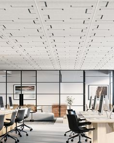 Introducing Ceiling Edit. A collection of acoustic drop-in ceiling tiles in 5 contemporary designs. Easy + quick to install into new and existing T grid systems, available in 12mm or 24mm thicknesses. Australian design, Australian made. Suspended Ceiling Systems, Exposed Ceilings, Sound Absorption, Grid System, Acoustic Panels, Ceiling Tiles, Timeless Design, Contemporary Design, Drop