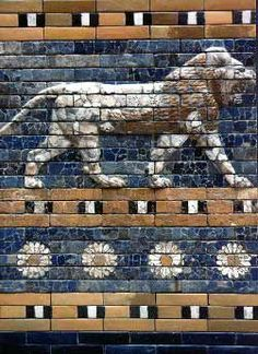 Lion, symbol of the Babylonian goddess Ishtar, from the Ishtar Gate was the eighth gate to the inner city of Babylon. It was constructed in about 575 BCE by order of King Nebuchadnezzar II.