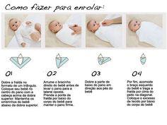 enrolando o bebe