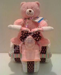 Unique+Diaper+Cakes | Unique Diaper Cakes-Centerpieces-Baby Shower gift ideas: Tricycle ...