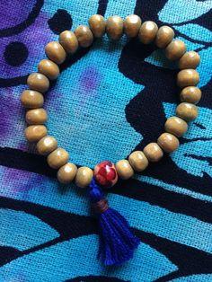 Tradtional 27 wooden bead MALA bracelet YOGA by HappyHempCrafts