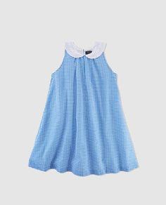 Vestido de niña Polo Ralph Lauren de cuadros vichy en azul