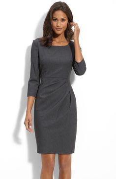 Free shipping and returns on Calvin Klein Pleat Detail Sheath Dress at Nordstrom.com. A three-quarter-sleeve dress is given a figure-flattering silhouette by curved side seams and pleats beneath the waistline.