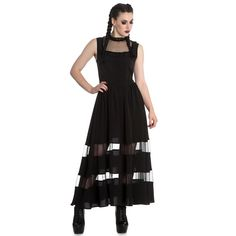 Spin Doctor Bellatrix Maxi Long Alternative Dress Black