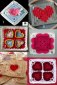Granny Heart Square Patterns