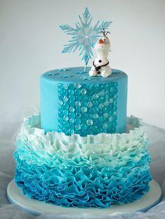 frozen fondan cakes | frozen by seb1079 disney frozen cake ombre fondant ruffles isomalt ...