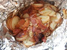 Bacon Ranch Foil Packet Potatoes  Grill 'em up please !