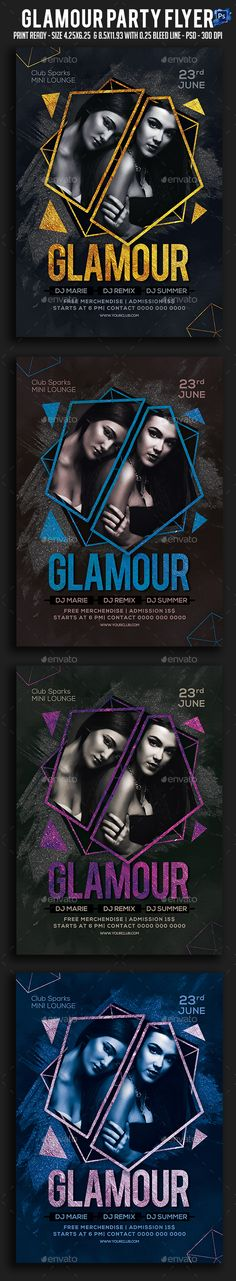 Glamour Party Flyer Template PSD