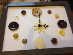 Button clock… violet daisy xx