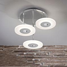 Einzigartige Deckenleuchte In Acryl Weiß Des Herstellers Paul Neuhaus: Drei  Formschöne Lampenringe Illuminieren Ihren Wohnraum, Ihr Schlafzimmer Oder  Ihr ...