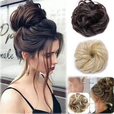 Hairstyles with extensions Details about 2019 New Synthetic Curly Hair Extensions Hairpiece Bun Updo Scrunchie Pony Tail 2019 New Synthetic Curly Hair Extensions Haarteil Bun Updo Scrunchie Pferdeschwanz Curly Hair Styles, Medium Hair Styles, Bun Hair Piece, Hair Pieces, Box Braids Hairstyles, Wedding Hairstyles, Hairstyles Videos, Luxy Hair, Synthetic Curly Hair
