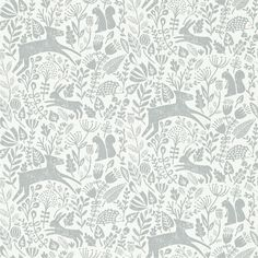 Scion wallpaper Kelda, from the new Levande Collection, worked well with our colour palette and love of nature.
