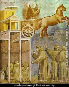 The Vision Of The Chariot Of Fire 1295-1300 - Giotto Di Bondone Reproduction