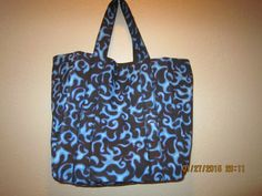 """Extra Large Durable 14"""" Grocery Shopper Tote Bag Blue Flames  CLEARANCE 38% Off  Was 18.00** by ShawnasSpecialties on Etsy"""