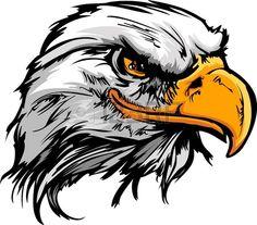 Bald Eagle o Hawk Head Mascot Graphic