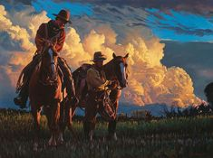 Enjoying These Wonderful Cowboy Paintings by Mark Maggiori. Western Art, Western Cowboy, American Frontier, Cowboy Art, Southwest Art, Le Far West, Old West, Horse Art, Traditional Art