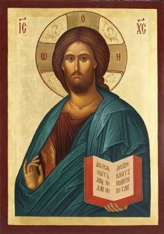 Photo: CN 030 - Christ Pantocrator Religious Pictures, Religious Icons, Religious Art, Byzantine Icons, Byzantine Art, Christ Pantocrator, Church Icon, Images Of Christ, Jesus Christus