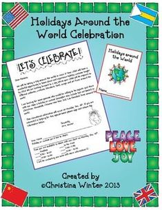 HOLIDAYS AROUND THE WORLD **EDITABLE** PARENT INVITATION, PASSPORT, AND MORE! - TeachersPayTeachers.com