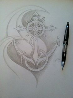 Anchor and compass
