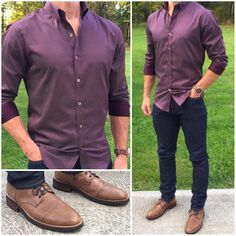 Here's another outfit with this awesome burgundy dot shirt❗️ I'll post a close up in my story so you can see the great detail in this shirt. Burgundy and navy is one of my favorite color combos❗️ Do you like this outfit❓ Also: Boots: Man Dressing Style, Look Man, Herren Outfit, Gentleman Style, Men Looks, Mens Clothing Styles, Men Dress, Men Casual, Business Casual Outfits Men