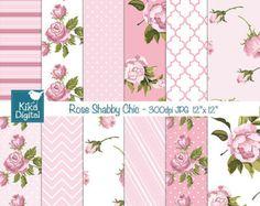 Shabby Roses Papers. Shabby Chic Backgrounds. Shabby by KaramfilaS