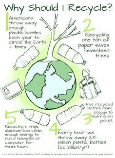 'Why Should I recycle poster.'- display for a bulletin board for conserving resources