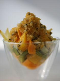 Mix it up with Curtis' colourful Exotic Fruit Salad Passion Fruit Granita.