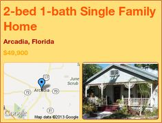 2-bed 1-bath Single Family Home in Arcadia, Florida ►$49,900 #PropertyForSale #RealEstate #Florida http://florida-magic.com/properties/1846-single-family-home-for-sale-in-arcadia-florida-with-2-bedroom-1-bathroom
