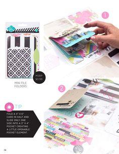 Make Pretty Stuff Volume 1 Issue 3  Heidi Swapp e.idea book featuring the exclusive Project Life edition by Heidi Swapp.