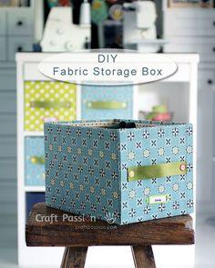 cuadro bastante fácil y bricolaje de almacenamiento con el cartón y tejidos lisos