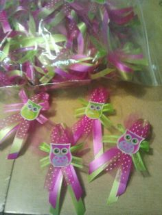 making these. Distintivos Baby Shower, Owl Shower, Baby Girl Shower Themes, Baby Shower Gender Reveal, Baby Shower Games, Baby Shower Parties, Shower Ideas, Baby Showers, Baby Girl Owl