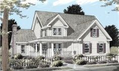 Country Style House Plans - 1867 Square Foot Home, 2 Story, 3 Bedroom and 2 3 Bath, 2 Garage Stalls by Monster House Plans - Plan 11-243