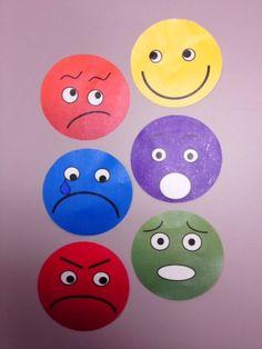 Clothespin Feelings Faces